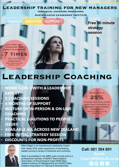 Coaching and mentoring for new managers New Zealand