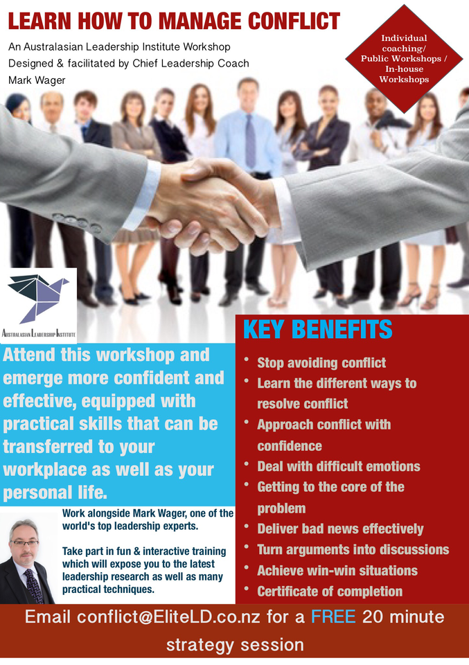 conflict management training Auckland Wellington