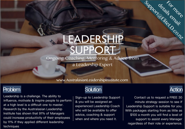 Leadership Support for Managers New Zealand